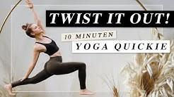 10 Minuten Yoga Quickie | Dein Energiekick mit Soforteffekt! | Drehungen & Körpermitte