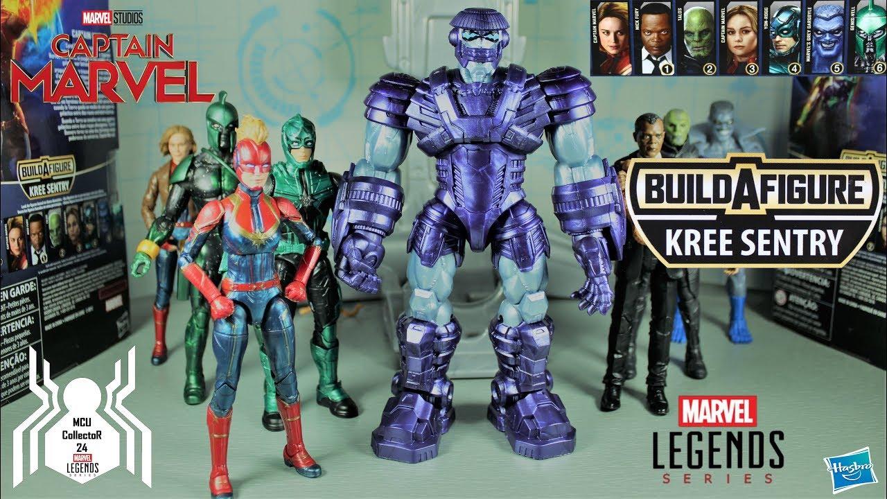 Kree Sentry BAF  Marvel LegendsCaptain Marvel  Wave 1 Set of 7