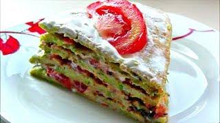 Закусочный торт из кабачков с помидорами  🍅 Обалденная вкуснятина такого вы еще не пробовали !