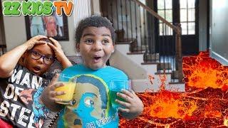 The Floor Is Lava Challenge Skit! 🚒🔥(What Should ZZ Kids Do?)