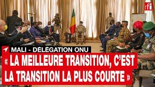 Mali : rencontre entre les autorités maliennes et la délégation du Conseil de sécurité de l'ONU •RFI screenshot 1