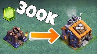"""300k Gems + to completely upgrade BH9 """"Clash Of Clans"""" Speed Build!"""