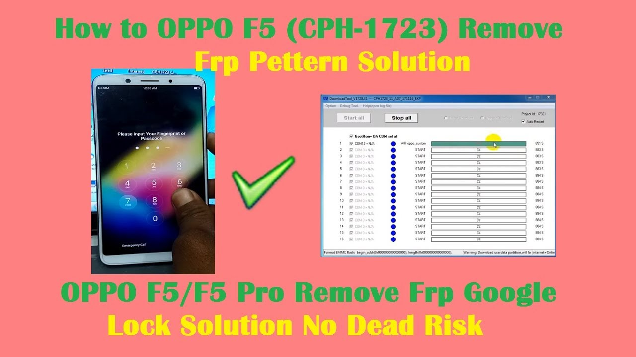 How to OPPO F5 (CPH-1723) Remove Frp Pettern Solution