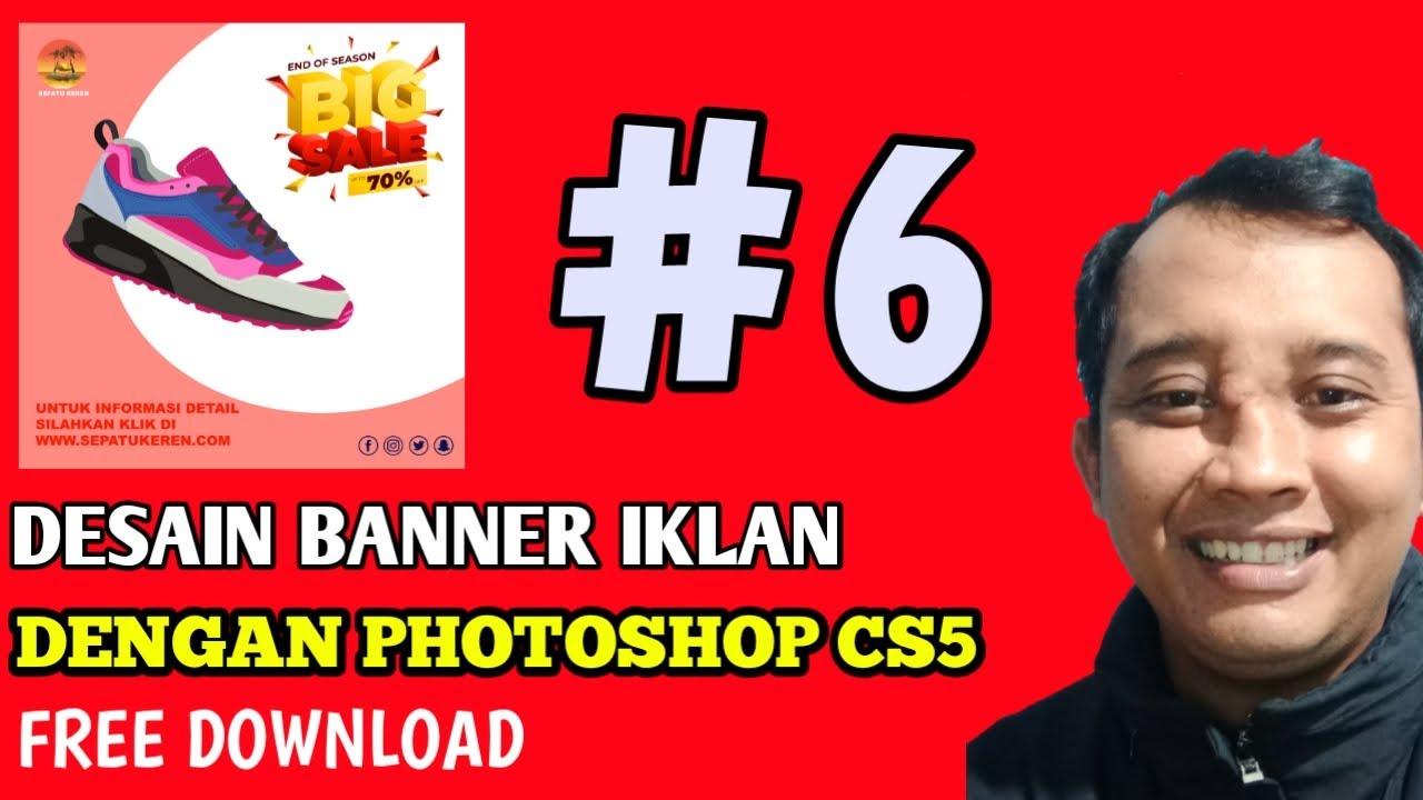 Desain Banner Iklan Di Photoshop cs5 - YouTube