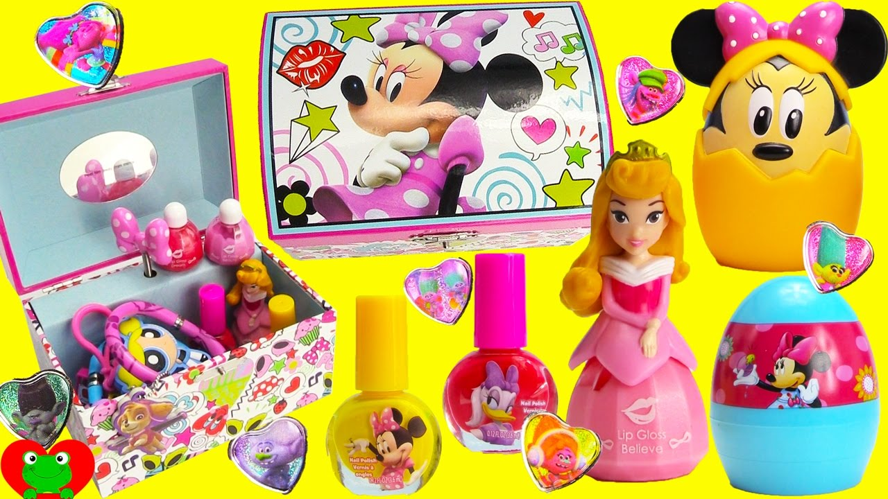 Minnie Mouse Jewelry Box and Surprises YouTube