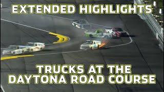 Rainy Wrecks at Daytona Road Course   NASCAR Truck Series Extended Highlights
