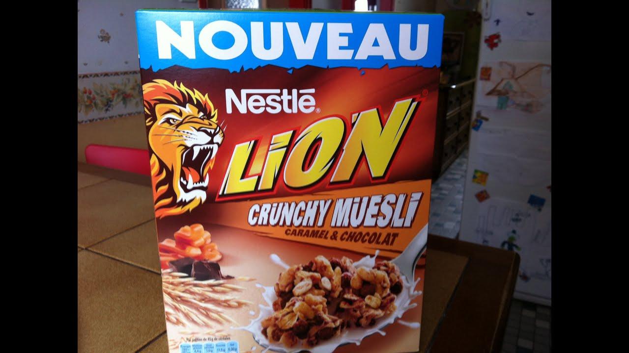 Gateau avec des cereales lion