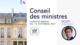 Compte rendu du Conseil des ministres du 13 octobre 2021
