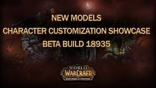 World of Warcraft Warlords of Draenor Beta Character Customization Showcase (All races Build 18935)