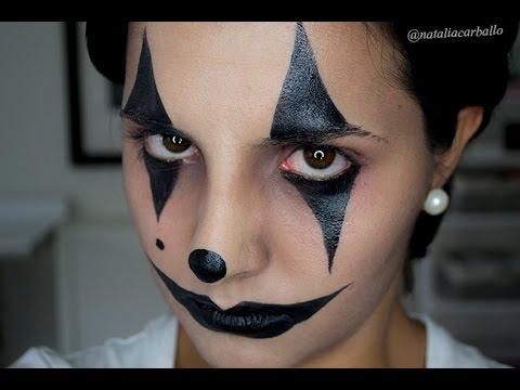 Maquillaje Halloween: Arlequín, bufón | por Natalia Carballo - YouTube