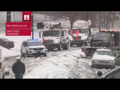 Charlotte Road Conditions Turn Dangerous After Sleet, Snow