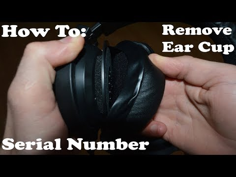 Guide: How to remove EAR CUPS - Razer Kraken Pro and Chroma v2 pro 7.1