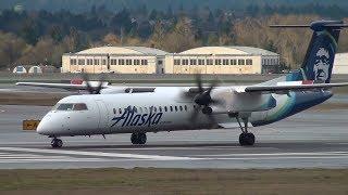 Alaska Airlines (Horizon) Q400 [N446QX] Takeoff Portland Airport (PDX)