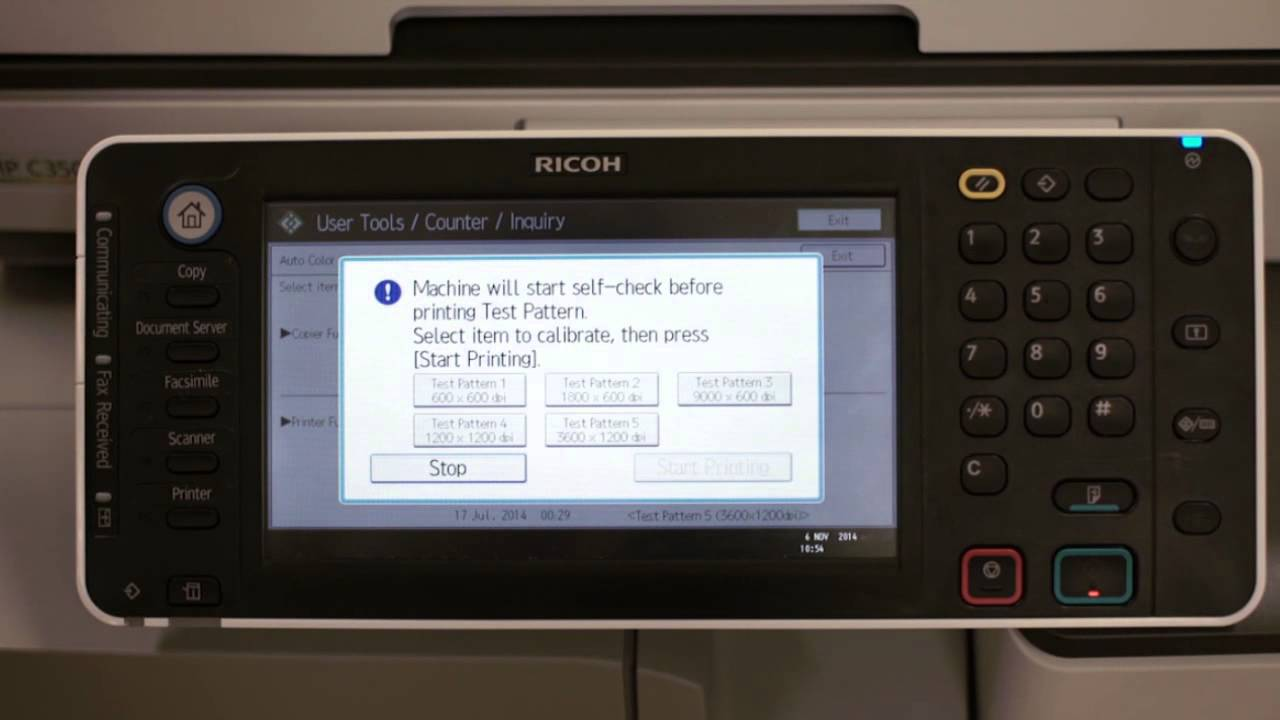 Ricoh Customer Support - How to do Auto Colour Calibration