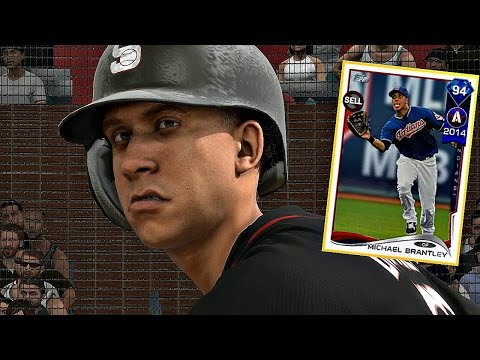 DIAMOND MICHAEL BRANTLEY IS EMBARRASSING PITCHERS!! MLB The Show 17 Diamond Dynasty