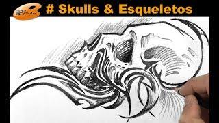 #Skulls - Caveira com tribal - Curso de Desenho IPStudio