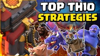 Top TH10 Attack Strategies! Amazing 3 Star Raids | Clash of Clans