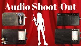 Sony ICF-506, ICF-19, ICF-306 and Panasonic RF-2400D Audio Shoot-Out
