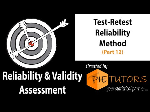 Test-Retest Reliability Method (Part 12 of the Course) | www.pietutors.com