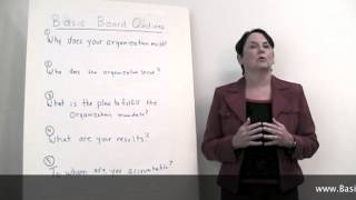 Part 1 of 5 Basic Board Governance Why Does Your Board Exist
