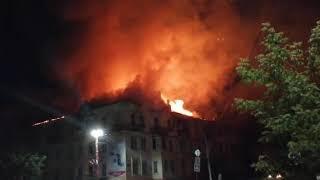Пожар в Сатке на Кирова 12