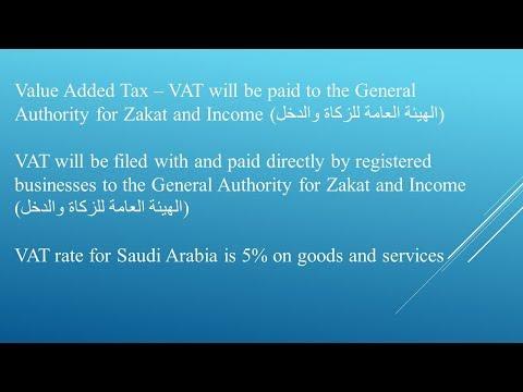 Value Added Tax (VAT) in Saudi Arabia 2018