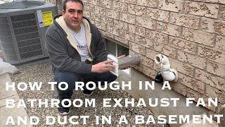 how to install a bathroom fan in a basement