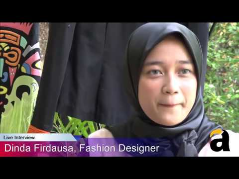 Dinda Firdausa Cover # Live Interview  Fashion Designer