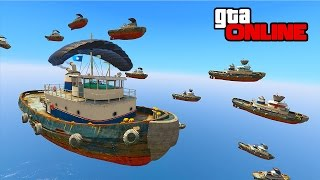 FRENCH RAGE, 'CHUTING TUGS & DEMO DERBY! || GTA 5 Online || PC (Funny Moments)