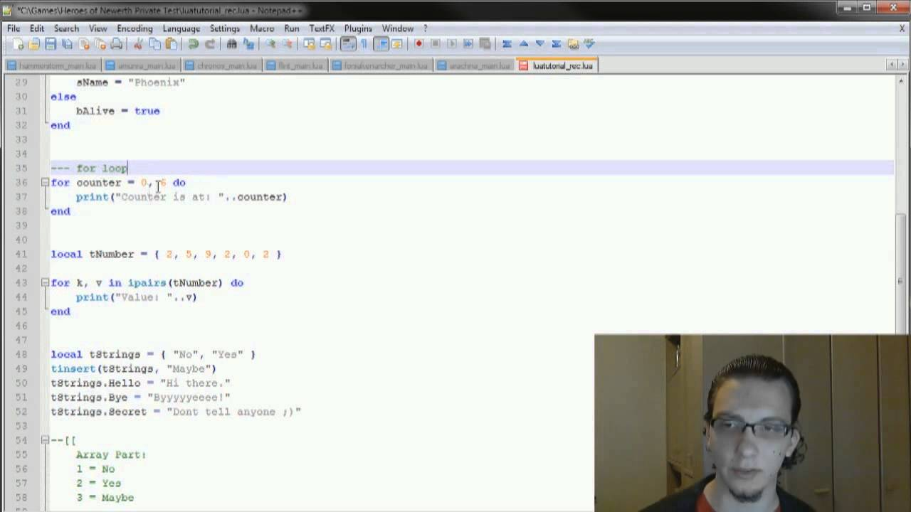 Lua Coding Tutorial 03 - Loops
