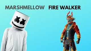 Fortnite : Fire Walker skin game play... with Marshmello game play