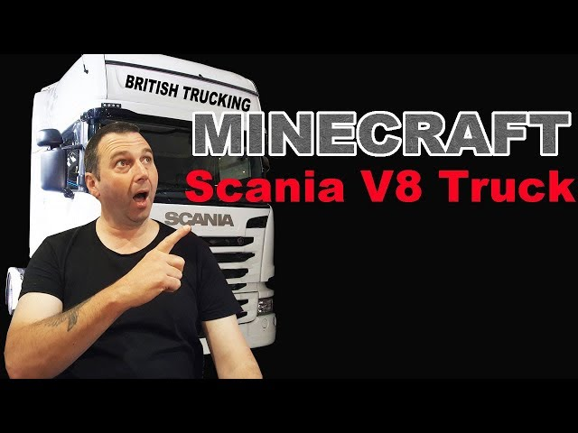 Minecraft Scania V8 Truck Awesome Footage