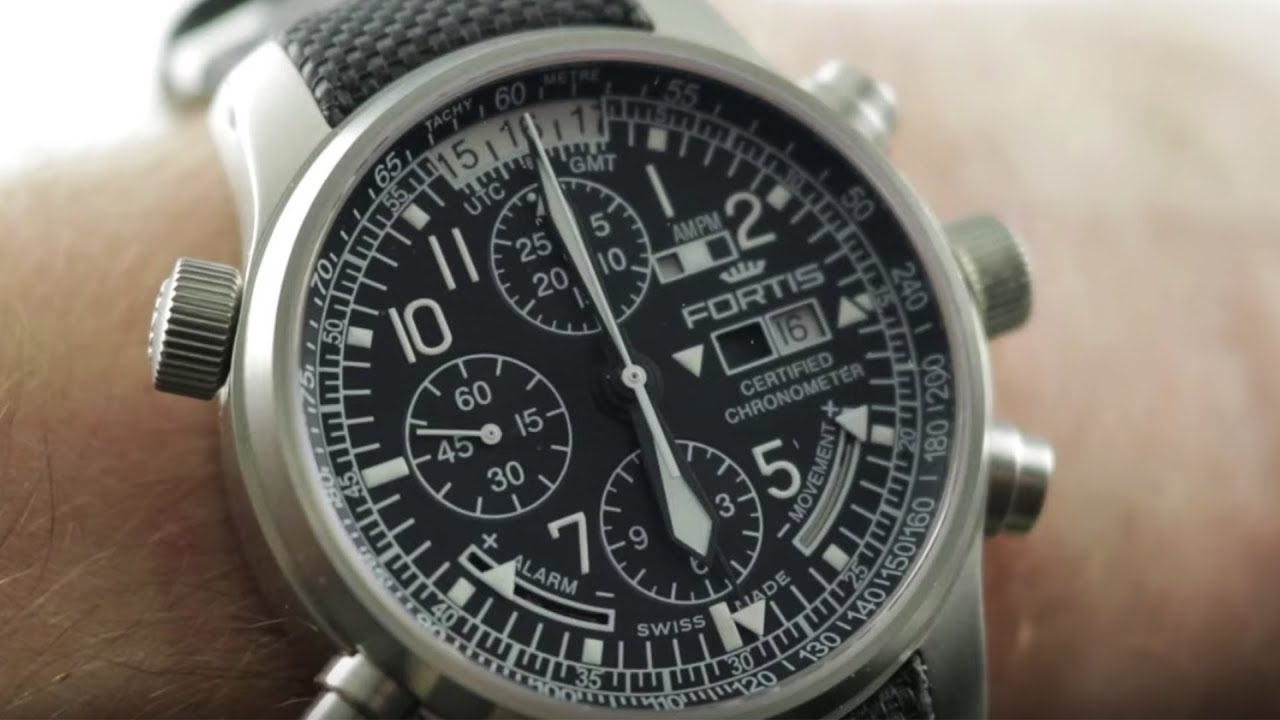 Fortis F-43 Flieger Chronograph Alarm Gmt 703 10 200 Fortis Watch Review