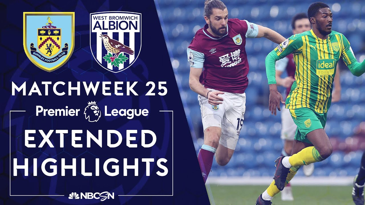 Burnley v. West Brom | PREMIER LEAGUE HIGHLIGHTS | 2/20/2021 | NBC Sports