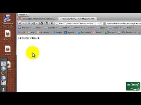 HTML et l'encodage UTF-8