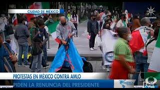 Protestas en México contra Amlo, piden la renuncia del presidente