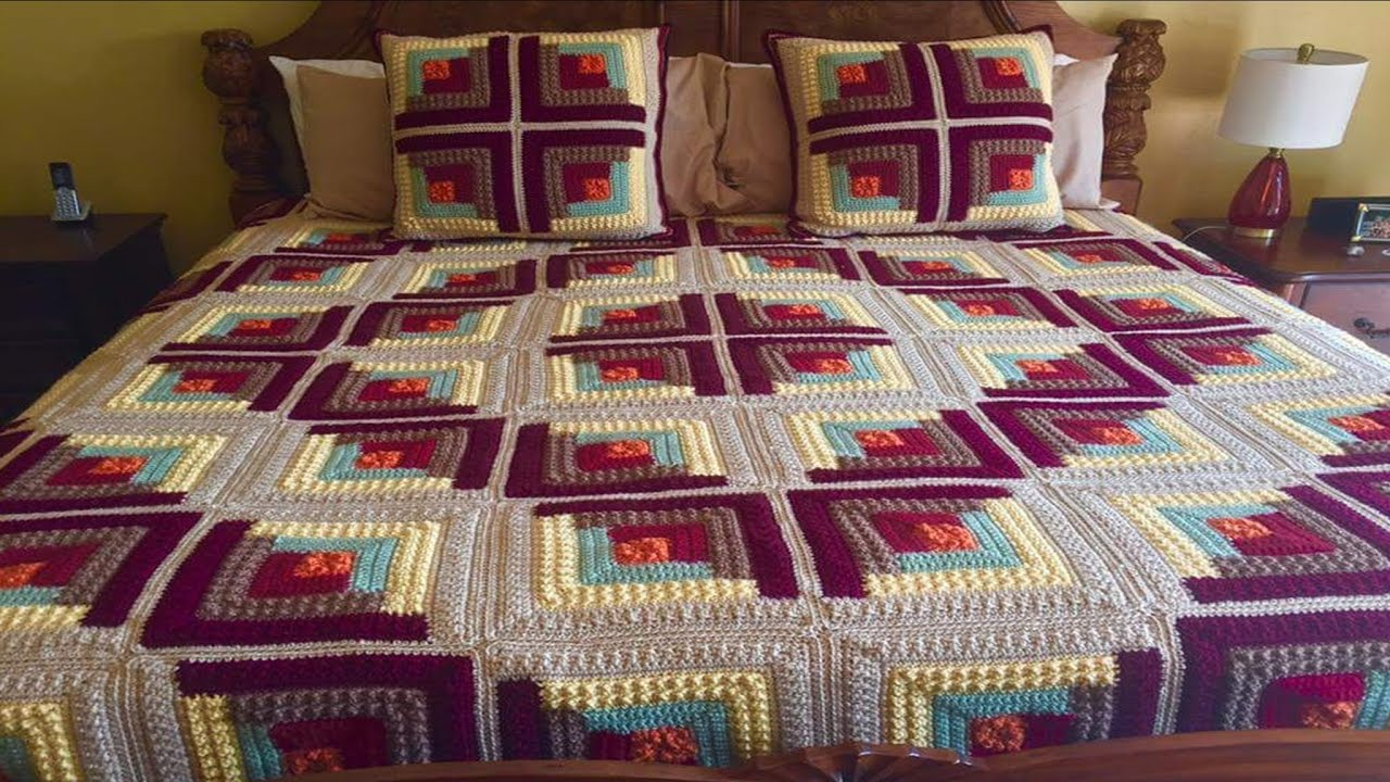 Como hacer colcha para camas tejidas a crochet facil y - Colchas tejidas a crochet ...