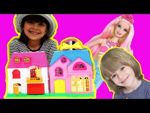 Thumbnail: Barbie Life Dreamhouse playset - Princess Barbie house games for girls