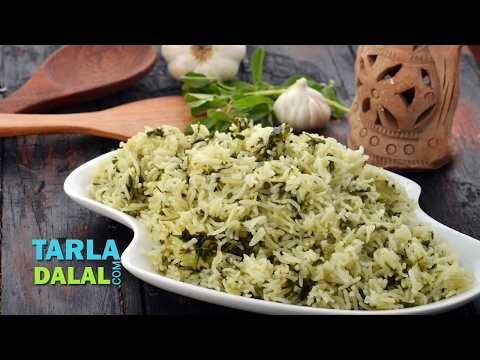 Methi Garlic Rice by Tarla Dalal