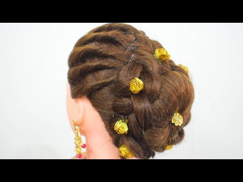 very beautiful and easy juda hairstyle for party  quick