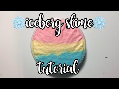 DIY ICEBERG SLIME TUTORIAL! // SLIMEBANDITZ