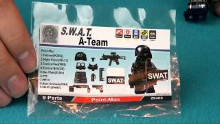 Modern Brick Warfare Custom SWAT LEGO Accessories Review