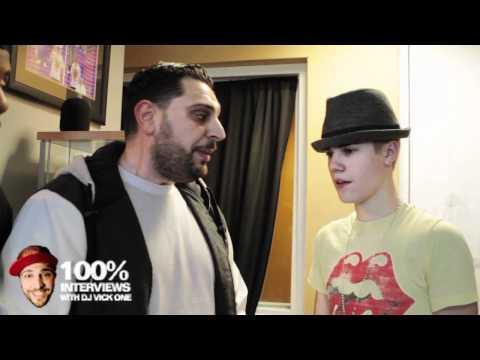 Justin Bieber  interview at Power 106 w/ DJ vick one NEW
