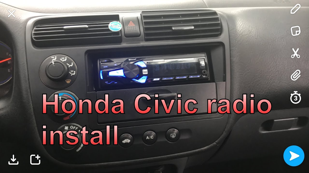 Honda Civic 2001-2005 RADIO INSTALL on