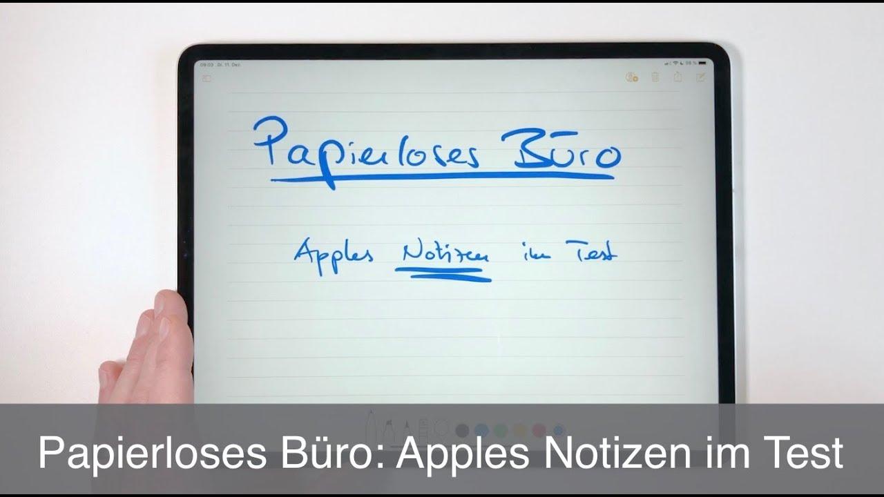 papierloses b ro apples notizen im test youtube. Black Bedroom Furniture Sets. Home Design Ideas