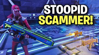 so this stupid kid almost scammed me! 😆 (Scammer Get Scammed) Fortnite Save The World