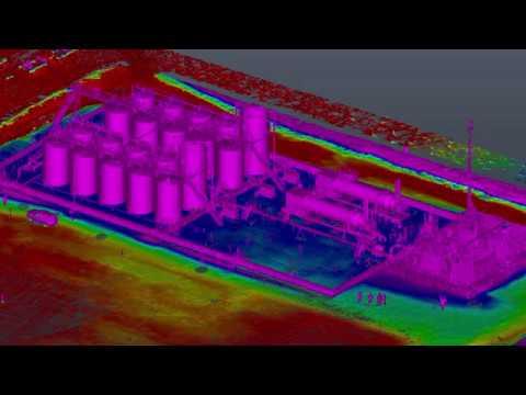 Oil & Gas Facility - 3D Laser Scan, Point Cloud, 3D Model, Asbuilt