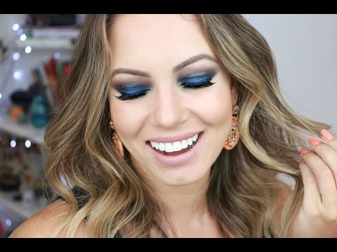 Como Fazer Maquiagem Smokey | Esfumado Azul por Juliana Goes