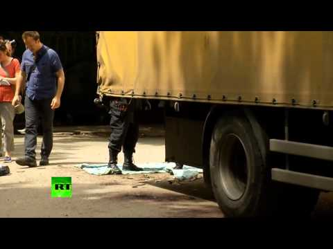 EXTREMELY GRAPHIC VIDEO   Bodies of anti Kiev fighters piled in Donetsk morgue