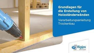 Grundlagen für die Erstellung von Holzständerwänden mit Rigips | Verarbeitungsanleitung Trockenbau